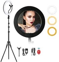 Professional HQ-12N LED Ring Light With Professional Tripod Black