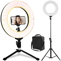Professional HQ-21N LED Ring Light With Tripod Black
