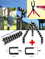 Large Octopus-like Cellphone Tripod Range 5.5-8.5CM - Black