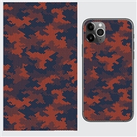 Lensun Red Camouflage Silicone Coated Back Skin