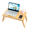 M5535 Bamboo Adjustable Portable Lazy Bed Multifunctional Table Yellow
