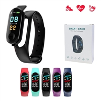 M3S Fit Band With Pedometer/Heart Rate/Sedentary Reminder  Black