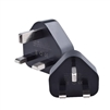 Main Charger UK Plug With CE Certification 5V/1.2A Black (MOQ 10 Pcs )