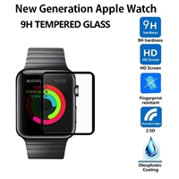 New Generation Apple Watch 38mm 3D Tempered Glass Black