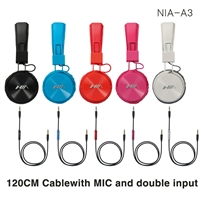 NIA A3 Stereo Wired Classic Headsets Pink