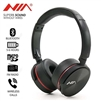 NIA Q6 On-Ear Super Bass Wireless Bluetooth Headphones Black