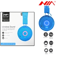 NIA X10 Superb Sound Wireless Bluetooth Headphone Blue