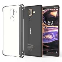 Nokia 7 Plus Shockproof Transparent Gel Case