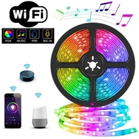Rgb individually led Light Strip 5m Flexible Wifi app Control Adapter Set