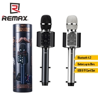 Remax K05 Wireless Microphone With Build in Speaker Silver