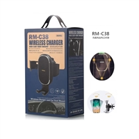 Remax RM-C38 Car holder With Fast Wireless Charging Black