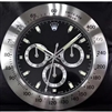 ROLEX Design 30cm Wall Clock Metallic Black