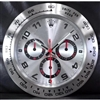 ROLEX Design 30cm Wall Clock  Metallic White