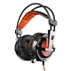 SADES AW30 4D Bass Vibration LED Lights Lightweight Gaming Headphones Black