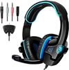 SADES SA-708GT 3.5mm Noise Cancellation Music Stereo Gaming Headphone Black