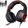 Sades Spirit Wolf R9 USB+3.5mm Edition Sound Stereo Gaming Headphone With LED Light Black and Red