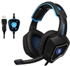 Sades Spirit Wolf R9 USB 7.1 Edition Stereo Gaming Headphone With LED Light Black and Blue