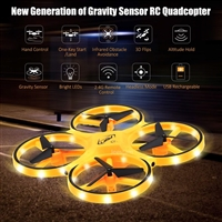 Smartwatch Intelligent 4-axis Aircraft Q3 Drone Yellow