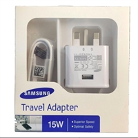 Samsung Travel Adapter 15W Fast Charger + 1.5M Micro USB 5V/2A White