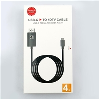 Type C to HDTV Adapter Cable 2M Black