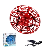 Air pressure Fixed Four-Axis UFO Mini Drone Red