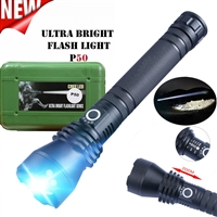 Ultra Bright P50 Rechargeable Flash Light Series Black