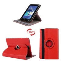 Universal 7-8'' 360 Rotaion Wallet Case Red