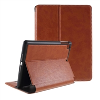Universal iPad 9.7'' Wallet Case with Pen Holder Coffee