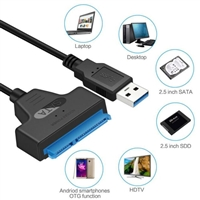 USB 3.0 to SATA 2.5 / 3.5 inch Hard Disk Cable Adapter Converter - Black
