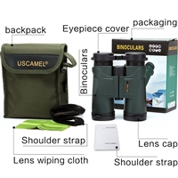 USCAMEL Military HD 10x42 Professional Binoculars Army Green