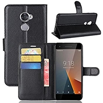 Vodafone Smart V8 Wallet Case Black