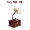 Vinatge MDY-1809  Wooden Bluetooth USB With Built-in FM Turntable Record Player