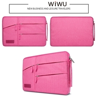 WiWu 15.4'' Smart Sleeve With Stand Function Laptop Bag Pink