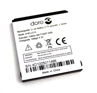 SHELL01A Battery for Doro PhoneEasy 3.7V/800mAh