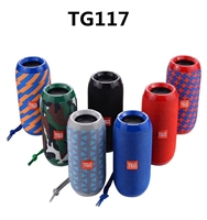 TG117 Portable Wireless Bluetooth Speaker Blue & Orance Tiger