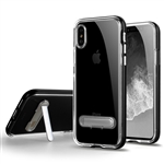 iPhone XS/X Transparent TPU Case With Stander Black