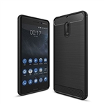 Nokia 6 Carbon Fiber Gel Case Black
